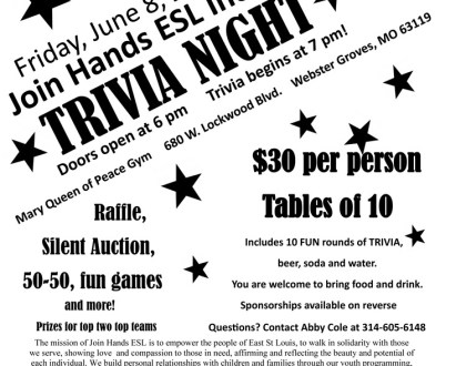Join Hands ESL's Trivia Night on June 8