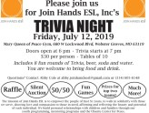Trivia Night on Friday, July 12