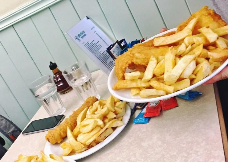 泰恩茅斯Tynemouth:Marshall's的炸魚薯條。