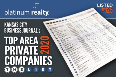 Platinum Realty Recognized as Top Area Private Company by Kansas City Business Journal