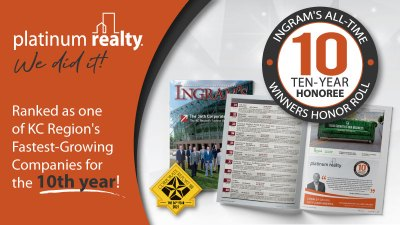 PLATINUM REALTY MAKES LIST OF THE REGION'S FASTEST-GROWING COMPANIES FOR THE 10TH YEAR!