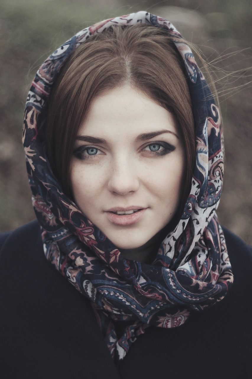 woman, headscarf, girl