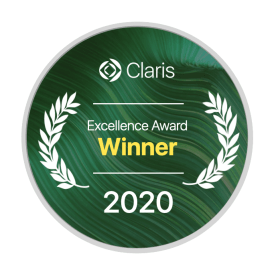 Claris FileMaker Excellence Award 2020