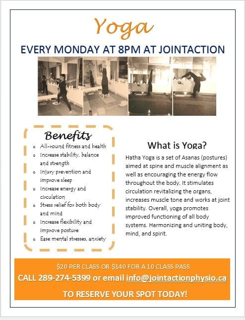 Yoga Clinic Ad
