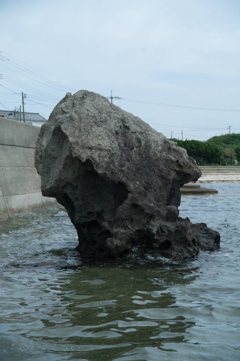 Tsunoshima demon rock