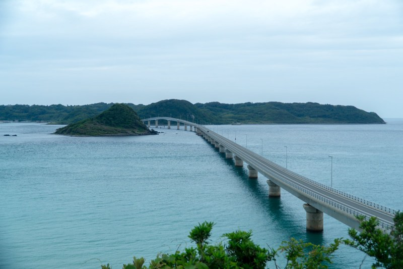 Tsunoshima view of bridge from the east