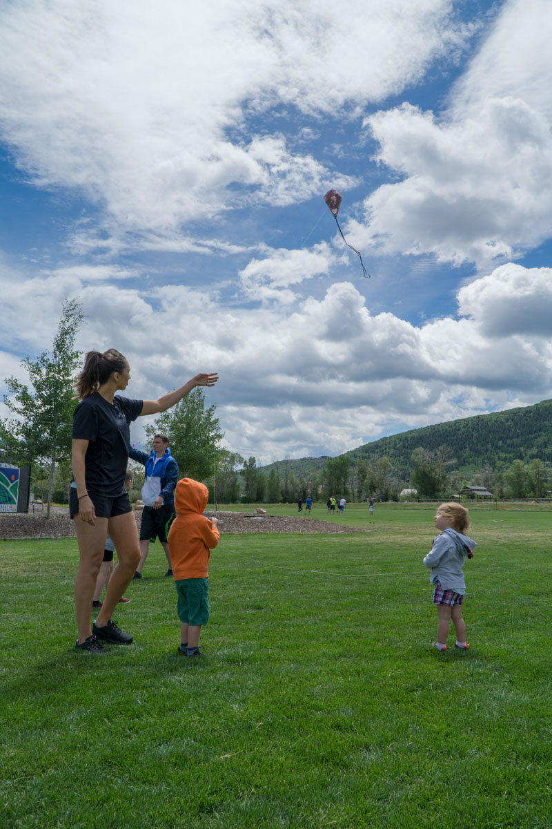 Park City flying a kite