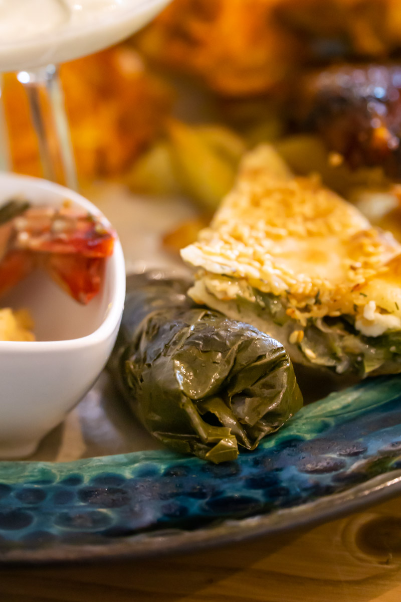 dolmades and phyllo