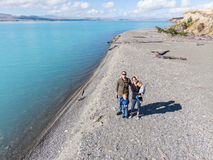 Family at Lake Pukaki