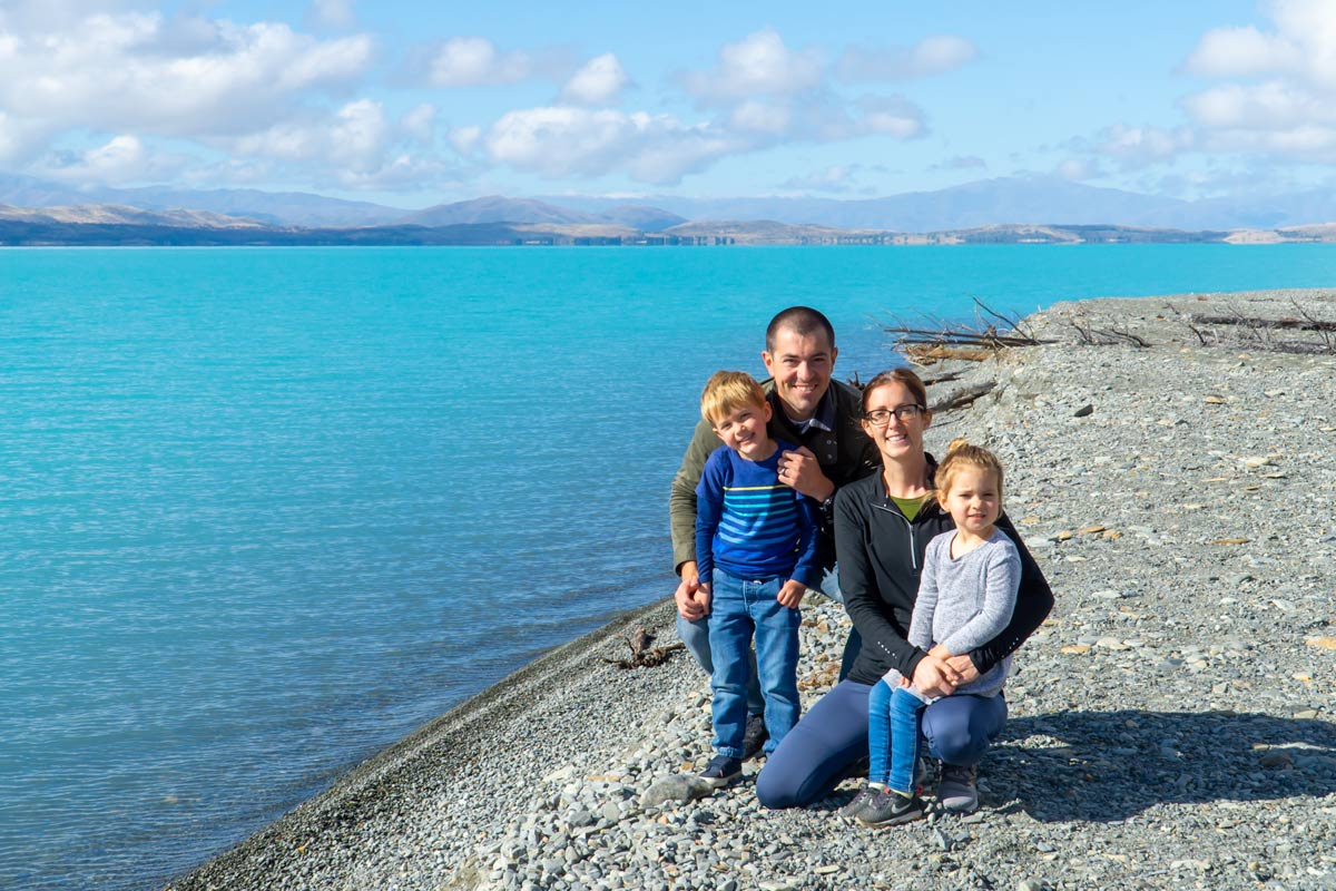 Lake Pukaki Family photo
