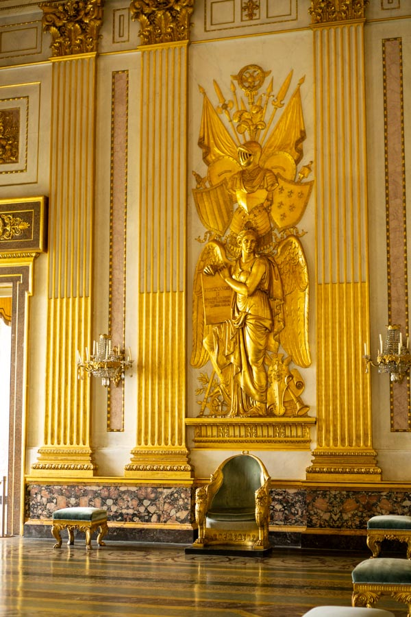 Caserta Palace golden room