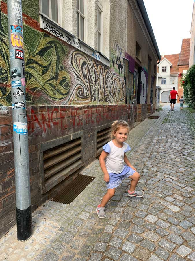 Girl on street in schwerin