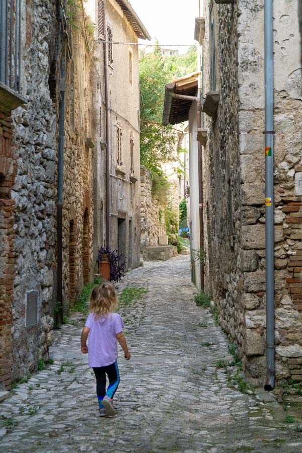 Narni girl on side roads