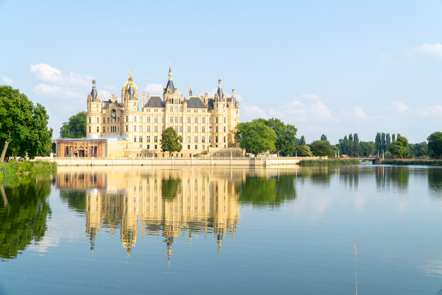Schwerin Castle and lake