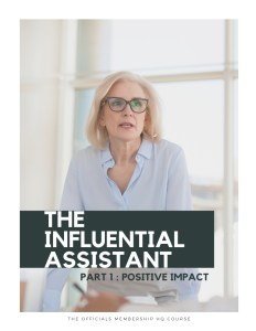 The Influential Assistant Course (Cover)