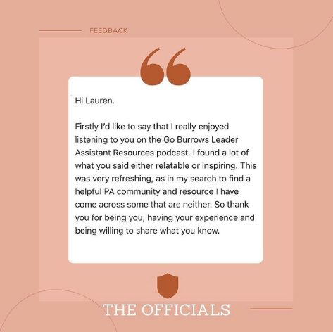 The Officials Executive Assistant Community Testimonial