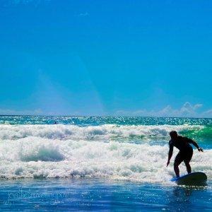 """Surfing Weekend"" at Sandy Bay, Tutukaka Coast"