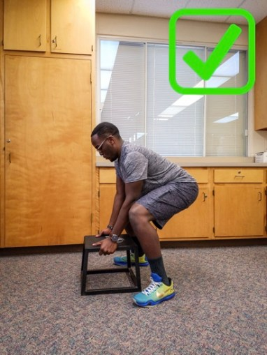 Lifting with hips & knees