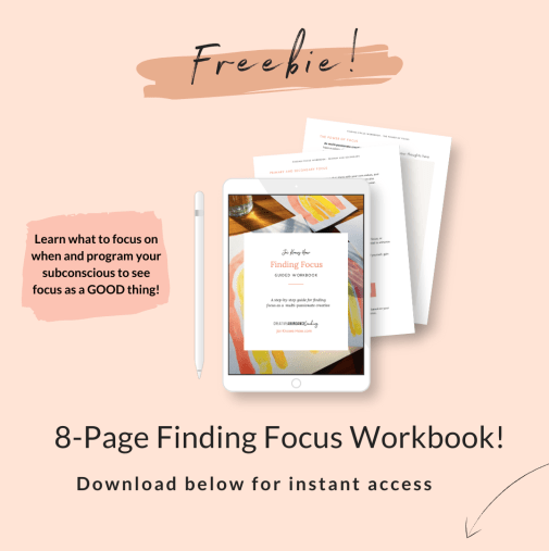 Finding Focus | Multi-Passionate Focus | Mastering Focus | How to Focus | multi-passionate creatives | Joi Knows How blog