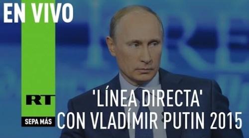 'Línea directa' con Vladímir Putin precidente de Ruso 2015 (Versión completa)
