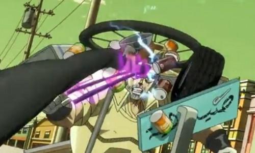 ジョジョ アニメ 第三部 第31話 電線を防御するジョセフ