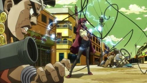 ジョジョ アニメ 第三部 第31話 マライア「感電して黒こげになるがいいわッ!」