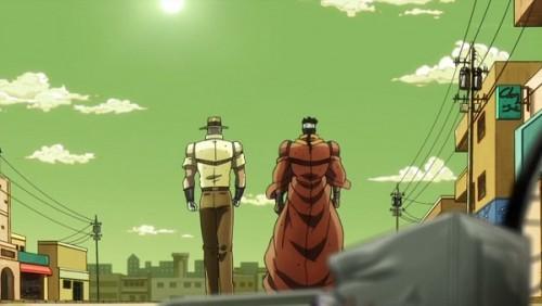 ジョジョ アニメ 第三部 第31話 何事もなかったように去っていく二人
