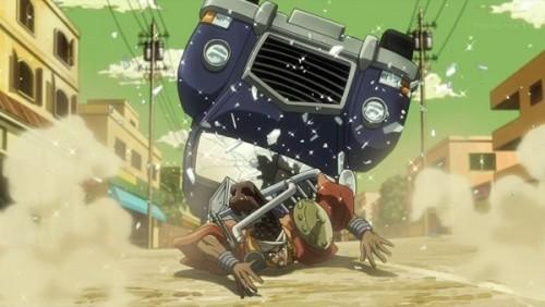 ジョジョ アニメ 第三部 第31話 車がひっつくアヴドゥル