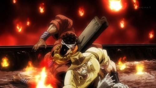ジョジョ アニメ 第三部 第31話 ネジの弾丸を焼きつくすアヴドゥル