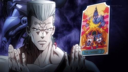 ジョジョ アニメ 第三部 第4話 シルバーチャリオッツ タロットカード