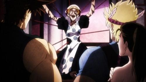 ジョジョ アニメ 第18話 触手を出すスージーQ