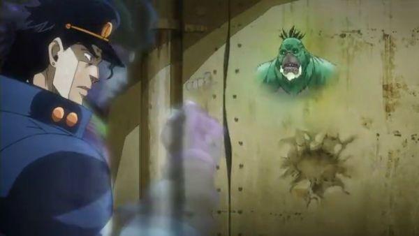 ジョジョ アニメ 第三部 第7話 壁の中に逃げるストレングス