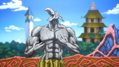 ジョジョ アニメ 第三部 第5話 マジシャンズレッドの石像
