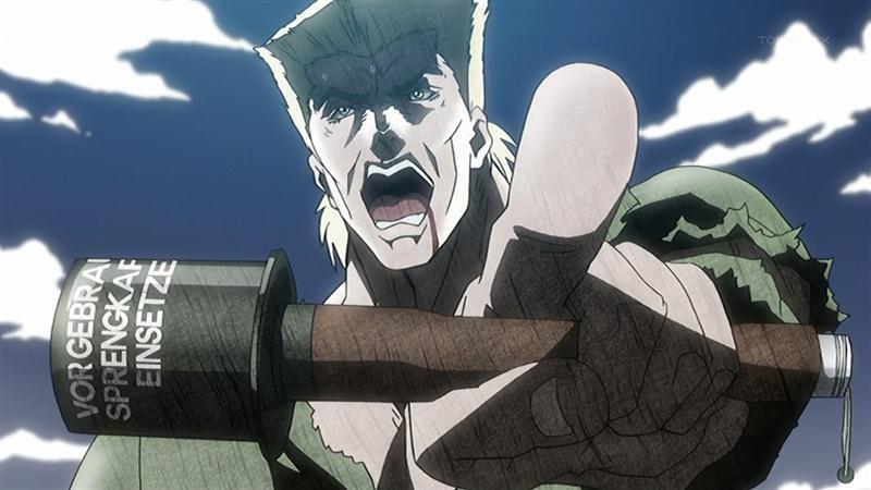 ジョジョ アニメ 第13話 手榴弾を持つシュトロハイム