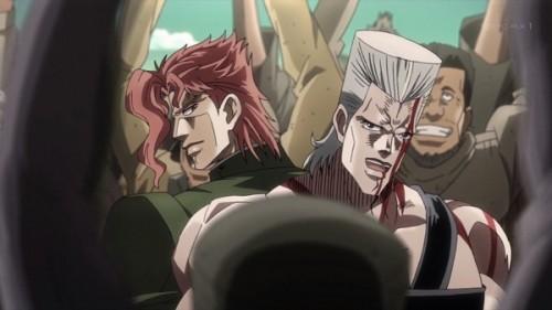 ジョジョ アニメ 第三部 第11話 花京院 「これでみんなの目が一点に集まったようですよ」