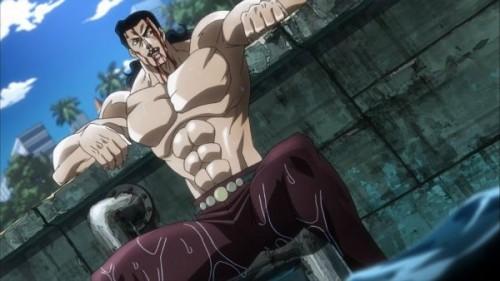 ジョジョ アニメ 第三部 第9話 反撃のチャンスを伺うラバーソール
