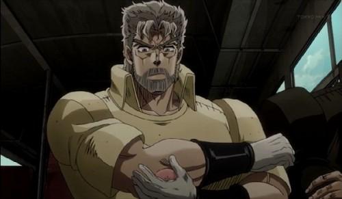 ジョジョ アニメ 第三部 第12話 ジョセフ 腕の出来物