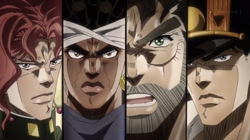 ジョジョ アニメ 第三部 第10話 全員驚愕