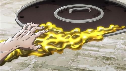 ジョジョ アニメ 第三部 第9話 マンホールに忍び込むイエローテンパランス