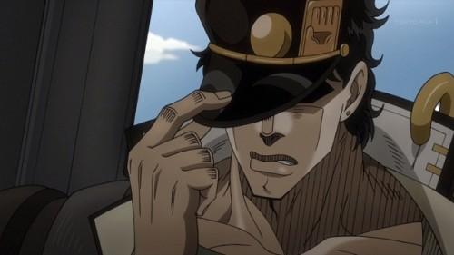 ジョジョ アニメ 第三部 第13話 承太郎 「やれやれだぜ」