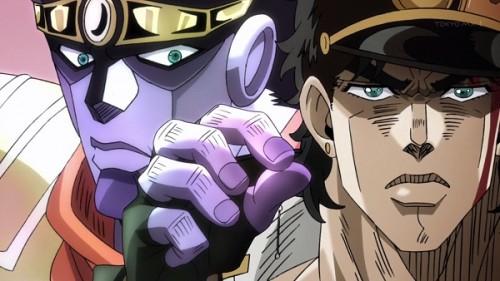 ジョジョ アニメ 第三部 第17話 ラバーズを捕まえるスタープラチナ