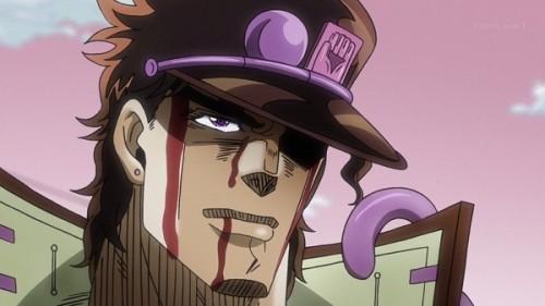 ジョジョ アニメ 第三部 第17話 承太郎 「残るかな おれのお仕置きの分がよ」