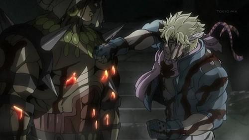 ジョジョ アニメ 第20話 瀕死のシーザーのパンチ