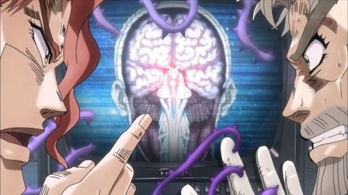ジョジョ アニメ 第三部 第16話 花京院 「脳幹と呼ばれるところにいますね」