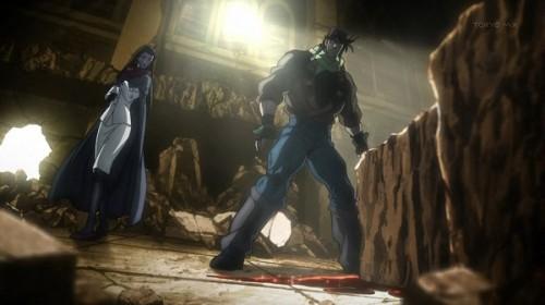 ジョジョ アニメ 第20話 岩の下から血が・・・