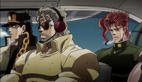 ジョジョ アニメ 第三部 第19話 セスナに乗る一行