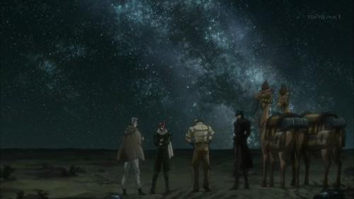 ジョジョ アニメ 第三部 第18話 綺麗な夜空