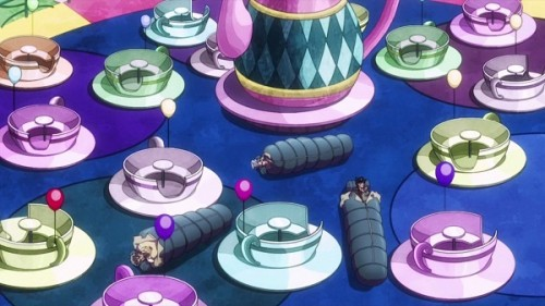 ジョジョ アニメ 第三部 第20話 遊園地で寝る三人