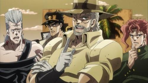 ジョジョ アニメ 第三部 第18話 物々交換をするジョセフ