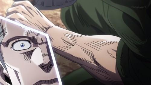 ジョジョ アニメ 第三部 第20話 腕の傷が消えた花京院